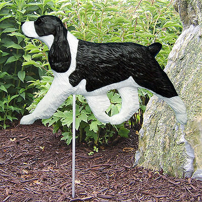 English Springer Spaniel Outdoor Garden Dog Sign Hand Painted Figure Black