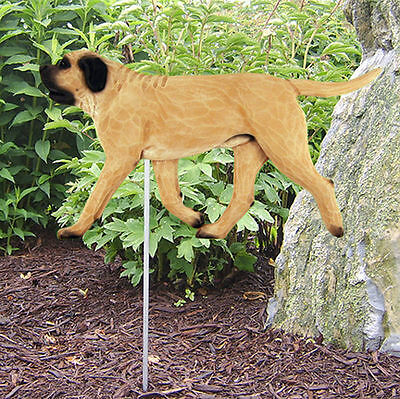 Mastiff Outdoor Garden Dog Sign Hand Painted Figure Fawn