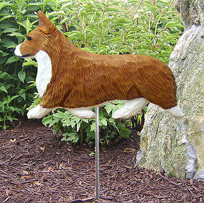 Welsh Corgi Pembroke Outdoor Garden Dog Sign Hand Painted Figure Red