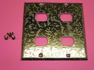 Nos! Bell Interchange 2-Gang Antique Chrome Finish Wall Plate, 4-Hole