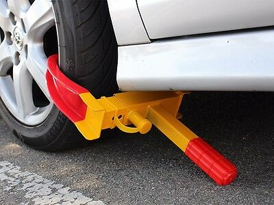 Wheel Lock Clamp Boot Tire Claw Auto Car Truck RV Boat Trailer Anti-Theft Towing