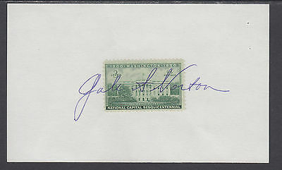 Gale Norton, US Secretary of the Interior, signed White House stamp on card