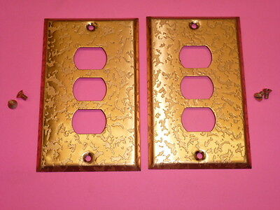 Nos! (2) Bell Interchange 1-Gang Antique Copper Finish Wall Plate, 3-Hole
