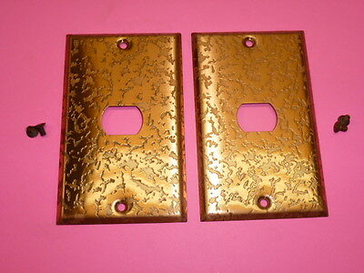Nos! (2) Bell Interchange 1-Gang Antique Copper Finish Wall Plate, 1-Hole