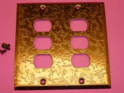 Nos! Bell Interchange 2-Gang Antique Copper Finish Wall Plate, 6-Hole, 19-2-Acox