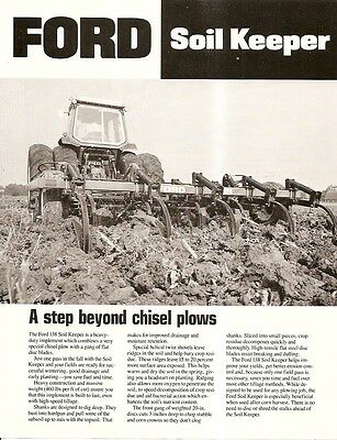 Farm Implement Brochure - Ford - Soil Keeper Chisel Plow Gang Blade 1980 (F1751)