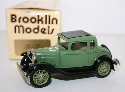 BROOKLIN 1/43 BRK5 - 1930 FORD MODEL A COUPE - GREEN - SHADE VAR A