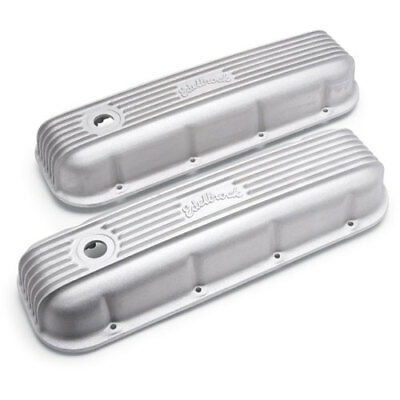 Edelbrock 41859 Classic Finned Valve Covers 1965-Up Chevy 396-502 Big Block