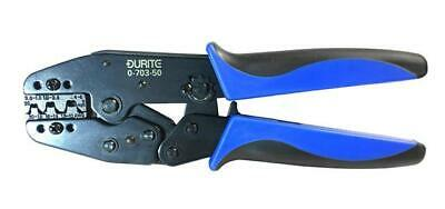 Durite Heavy Duty Uninsulated Terminal Ratchet Crimping Tool Pliers Non 0-703-50