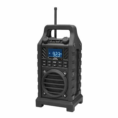 New PWPBT250BK Rugged & Portable Bluetooth Speaker with FM-Radio USB/SD AUX-IN