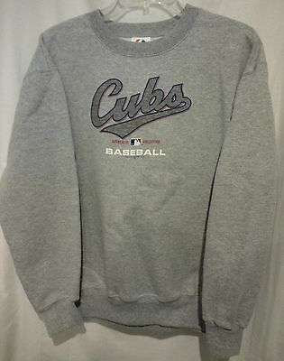 new style 0234a ec4c7 CHICAGO CUBS SWEATSHIRT Youth XL Majestic Kids Gray sweatshirt for Boy or  Girl