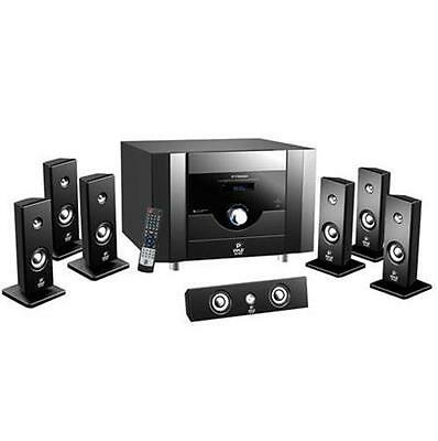 NEW Pyle 7.1Ch Home Theater System 6 Satellite Speakers, Center Ch, Subwoofoofer