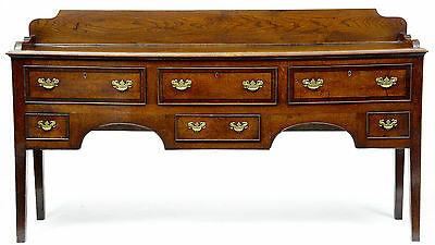 Late 18Th Century Antique Oak And Elm Dresser Base