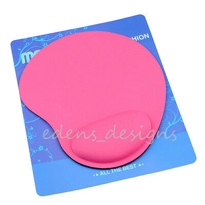Pink Wrist Rest Soft Support Comfort Mousepad Mat Mice Pad Durable Free Shipping