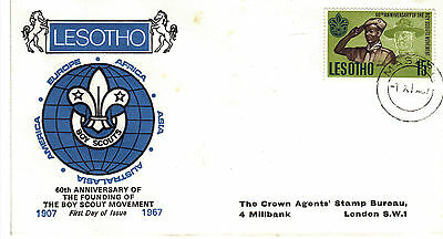 LESOTHO 1967 SCOUT Stamp First Day Cover Ref:CW390