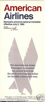 Airline Timetable - American - 02/07/85