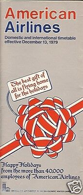 Airline Timetable - American - 13/12/79 - Christmas