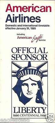 Airline Timetable - American - 31/01/85