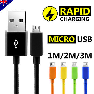5x Micro USB Charger Cable for Samsung Galaxy S7 Edge S6 S5 S4 Note 5 4 2017