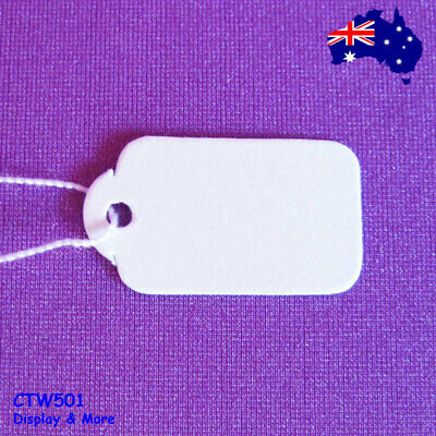 Paper Price TAG String Swing | 3000pcs WHOLESALE | Plain White | AUSSIE Seller