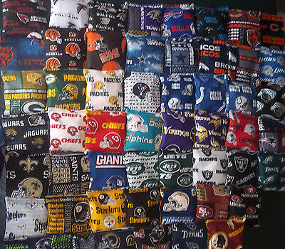 8 ACA Regulation Cornhole Bags CHOOSE FROM 30 NFL TEAMS 4 EA No Rams/Chargers