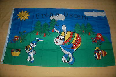 Frohe Ostern Osterhasen Osterei Flagge Fahne Hißflagge Hissfahne 150 x 90 cm