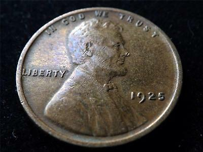1925 Usa Lincoln One Cent Coin