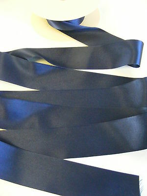 3 metres of Berisfords DUSKY BLUE shade 61 double satin ribbon various widths