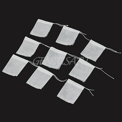 Wholesale 100 Pcs Disposable String Empty Seal Filter Paper Herb Loose Tea Bags