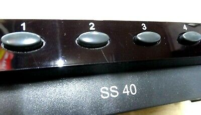 4 way stereo speaker switch box 4 pairs of speakers Avico SS40