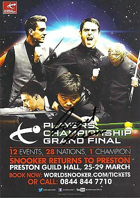 Snooker Players Championship Grand Final Flyer. Signed by Gerard Greene.