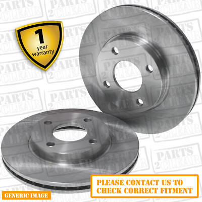 Front Vented Brake Discs Alfa Romeo GT 1.9 JTD Coupe 2003-10 150HP 284mm