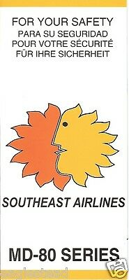 Safety Card - Southeast - MD-80 Series - 2001 (S3114)