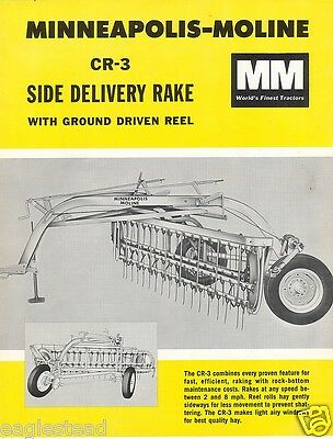 Farm Implement Brochure - Minneapolis-Moline - CR-3 Side Delivery Rake 65 (FB358