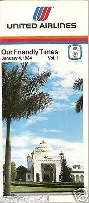 Airline Timetable - United - 04/01/84 - Vol 1 - Freeport Bahamas cover