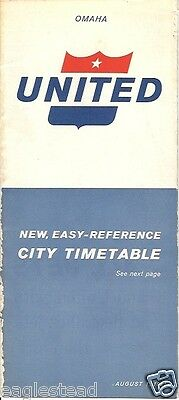 Airline Timetable - United - 01/08/61 - Omaha Edition