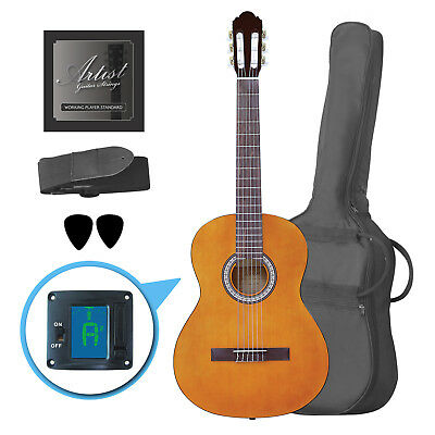 Artist CL44AM Full Size Classical Nylon String Guitar Pack 39 - Amber - New