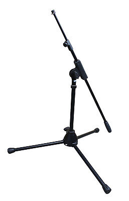 Artist MS010 Small Black Mic Stand with Short Telescopic Boom - New
