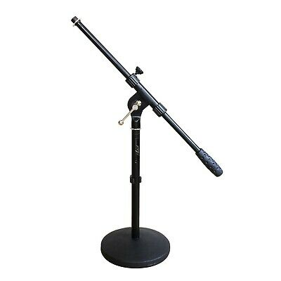 Artist MS023 Small Black Boom Mic Stand with Round Base - New