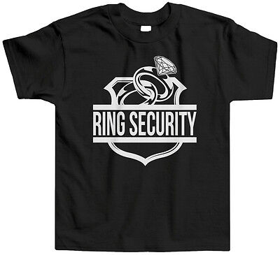 Ring Security Kids Toddler T-Shirt Tee Child Marriage Family Wedding Bearer