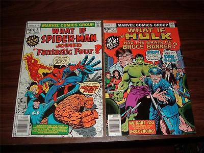 What If? 1-47----complete run of 47 comic books--mostly higher grade copies