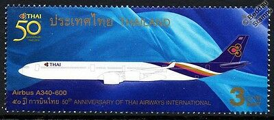 THAI AIRWAYS Airbus A340-600 Jet Airliner Aircraft Stamp