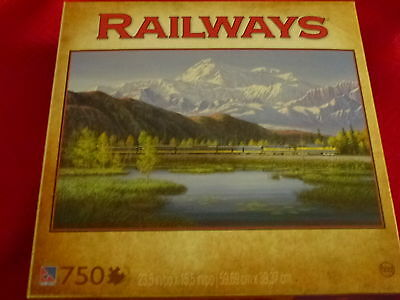 NEW Sure Lox Railways 750 PIECE PUZZLE On a Clear Day
