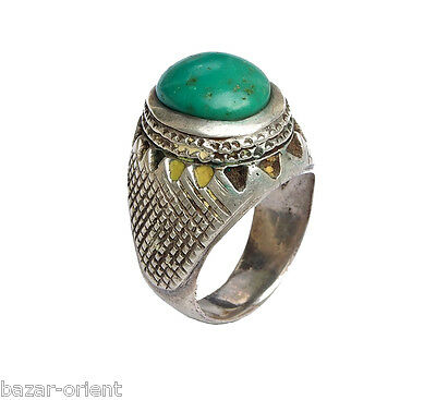 orient afghanistan massiv silber Türkis Ring islamic silver turquoise ring N:434