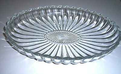"""Heisey Crystolite Oval Shallow Bowl - 12"""" X 8 1/2"""" - Signed"""