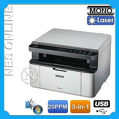 Brother DCP-1510 3in1 Copy/Scan Mono Laser MFP Printer  /w TN1070 Starter Toner