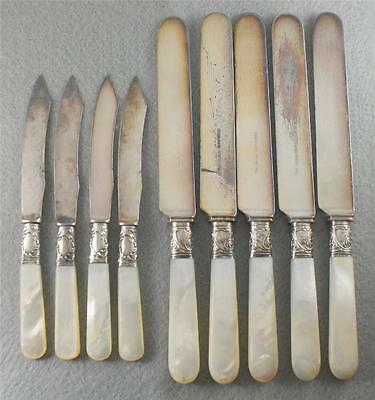 Gorham WM Rogers Sterling Silver Mother of Pearl Antique Butter Fruit Knives Lot