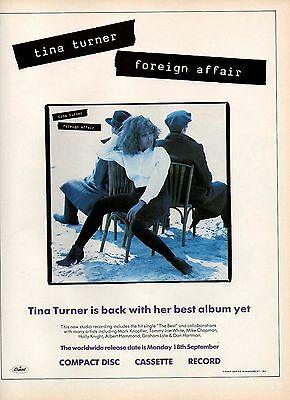 Tina Turner-1989 magazine advert