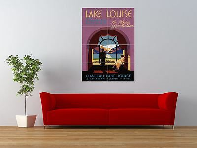 Travel Lake Louise Rocky Mountains Canada Giant Wall Art Poster Print