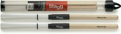 Stagg Bristle Nylon Brushes With Natural Wood Handle SBRU10-WN